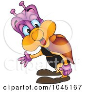 Royalty Free RF Clip Art Illustration Of A Confused Bug