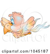 Royalty Free RF Clip Art Illustration Of A Flying Parrot 3 by dero