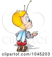 Royalty Free RF Clip Art Illustration Of A Beetle Standing And Looking