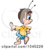 Royalty Free RF Clip Art Illustration Of A Beetle Walking