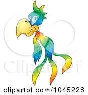 Royalty-Free (RF) Clip Art Illustration of a Flying Parrot - 1 by dero #COLLC1045228-0053