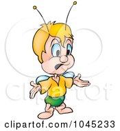 Royalty Free RF Clip Art Illustration Of A Beetle Shrugging