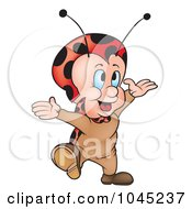 Royalty Free RF Clip Art Illustration Of A Happy Ladybug by dero