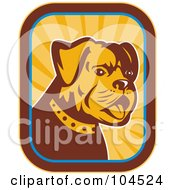 Royalty Free RF Clipart Illustration Of A Bulldog Logo by patrimonio