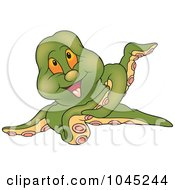 Royalty Free RF Clip Art Illustration Of A Green Octopus 2 by dero