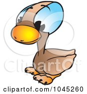 Royalty Free RF Clip Art Illustration Of A Duckling by dero