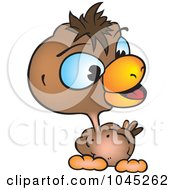 Royalty Free RF Clip Art Illustration Of A Brown Chicken by dero