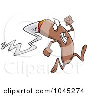 Royalty Free RF Clip Art Illustration Of A Cartoon Burning Cigar