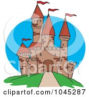 Royalty Free RF Clip Art Illustration Of A Cartoon Path Leading To A Castle
