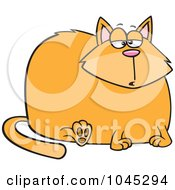 Royalty Free RF Clip Art Illustration Of A Cartoon Really Fat Cat