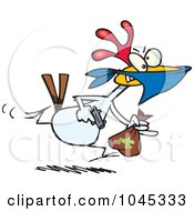 Royalty Free RF Clip Art Illustration Of A Cartoon Chicken Thief