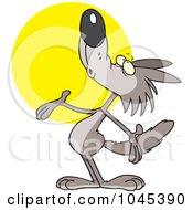 Cartoon Coyote Howling
