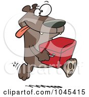 Royalty Free RF Clip Art Illustration Of A Cartoon Bear Stealing A Cooler