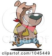 Royalty Free RF Clip Art Illustration Of A Cartoon Bear Cowboy