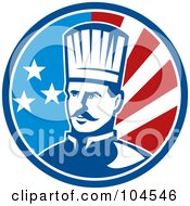 Royalty Free RF Clipart Illustration Of An American Male Chef Logo