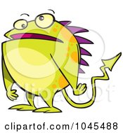 Cartoon Monster With Spikes