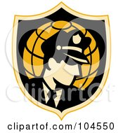 Royalty Free RF Clipart Illustration Of A Security Guard Badge Logo by patrimonio #COLLC104550-0113