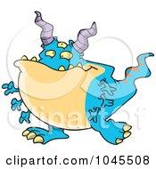 Cartoon Horned Monster