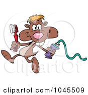 Royalty Free RF Clip Art Illustration Of A Cartoon Dental Gopher by toonaday