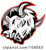 Royalty Free RF Clipart Illustration Of A Mad Bison Logo by patrimonio