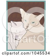 Royalty Free RF Clip Art Illustration Of Siamese Cats Cuddling