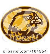 Royalty Free RF Clipart Illustration Of A Peregrine Falcon Logo