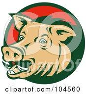 Royalty Free RF Clipart Illustration Of A Wild Boar Logo