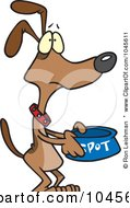 Royalty Free RF Clip Art Illustration Of A Cartoon Hungry Dog Pleading For Food by toonaday