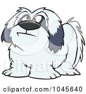 Royalty Free RF Clip Art Illustration Of A Cartoon Shaggy Dog