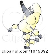 Royalty Free RF Clip Art Illustration Of A Cartoon Snobbish Poodle Walking Upright by toonaday