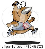 Royalty Free RF Clip Art Illustration Of A Cartoon Jogger Bear by toonaday