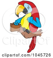 Royalty Free RF Clip Art Illustration Of A Cartoon Parrot Legal With A Briefcase by toonaday