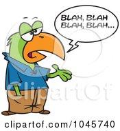 Royalty Free RF Clip Art Illustration Of A Cartoon Boring Parrot Talking by toonaday