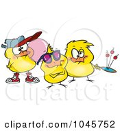 Royalty Free RF Clip Art Illustration Of Cartoon Chick Peeps by toonaday