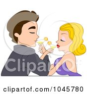 Couple Crossing Arms Drinking Wine
