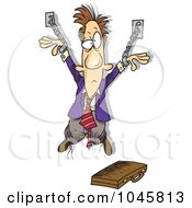 Royalty Free RF Clip Art Illustration Of A Cartoon Chained Businessman by toonaday