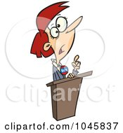 Royalty Free RF Clip Art Illustration Of A Cartoon Female Political Candidate by Ron Leishman