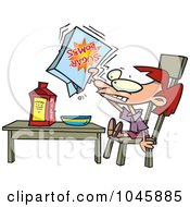Royalty Free RF Clip Art Illustration Of A Cartoon Girl Eating Sugary Cereal