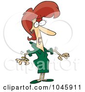 Royalty Free RF Clip Art Illustration Of A Cartoon Surprised Businesswoman