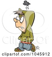 Royalty Free RF Clip Art Illustration Of A Cartoon Surly Boy