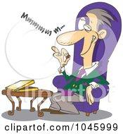 Royalty Free RF Clip Art Illustration Of A Cartoon Wealthy Man Eating Chocolates