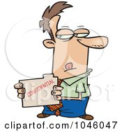 Royalty Free RF Clip Art Illustration Of A Cartoon Businessman Stealing A Confidential Folder by toonaday