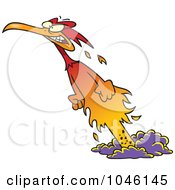 Royalty Free RF Clip Art Illustration Of A Cartoon Phoenix Rising From The Ashes
