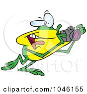 Royalty Free RF Clip Art Illustration Of A Cartoon Happy Photography Frog