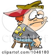 Royalty Free RF Clip Art Illustration Of A Cartoon Boy Being Punished In Time Out