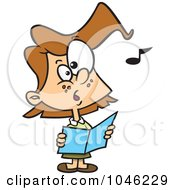 Royalty Free RF Clip Art Illustration Of A Cartoon Chorus Girl Singing by toonaday