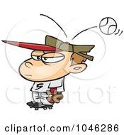Royalty Free RF Clip Art Illustration Of A Cartoon Baseball Hitting A Boy On The Head