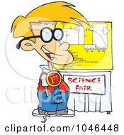 Royalty Free RF Clip Art Illustration Of A Cartoon Science Fair Boy