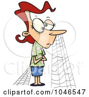 Royalty Free RF Clip Art Illustration Of A Cartoon Patient Woman With Cobwebs
