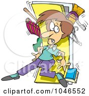 Royalty Free RF Clip Art Illustration Of A Cartoon Woman With A Messy Closet by toonaday